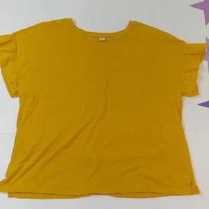 Old Navy mustard relaxed fit blouse top